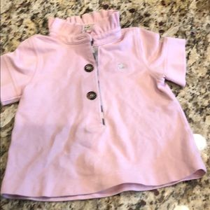 Burberry childs top pink with classic check